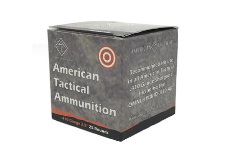 AMERICAN TACTICAL AMMUNITION 410 Gauge 2 1/2 Inch Rifled Slug 25/Box