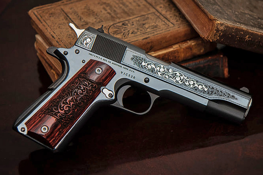 1911 45 ACP GUSTAVE YOUNG ENGRAVER SERIES