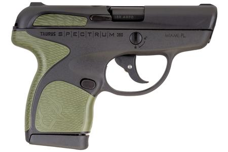 TAURUS SPECTRUM .380 AUTO BLACK W/ ARMY GREEN GRIPS