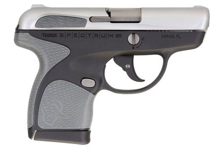TAURUS SPECTRUM .380 AUTO BLACK/STAINLESS WITH GRAY GRIPS