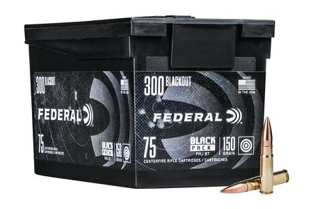 Federal 300 Blackout 150 gr FMJ Black Pack 75/Box