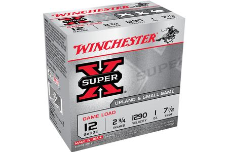 WINCHESTER AMMO 12 GA 2.75 Inch 7.5 Shot Super X 25 Rounds per Box