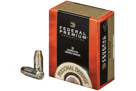 FEDERAL AMMUNITION 40 SW 180 Gr Hydra-Shok JHP Personal Defense 20/Box