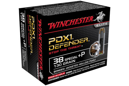 WINCHESTER AMMO 38 Special +P 130 gr Bonded JHP PDX1 Defender 20/Box