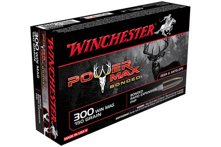 WINCHESTER AMMO 300 Win Mag 150 gr Protected Hollow Point Power Max Bonded 20/Box