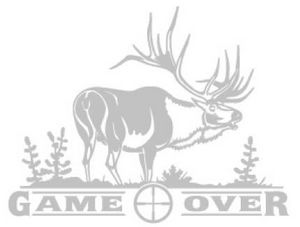 ELK GAME OVER DECAL