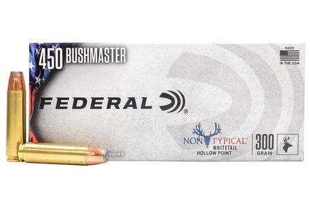 FEDERAL AMMUNITION 450 Bushmaster 300 gr Jacketed Hollow Point Non-Typical 20/Box