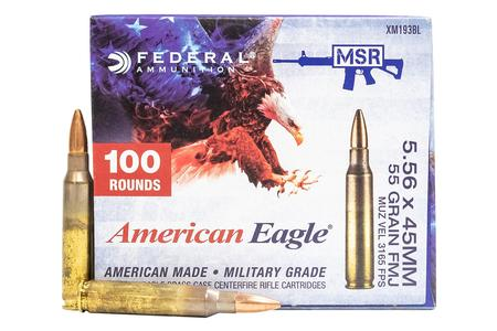 Federal XM193 5.56mm 55 gr FMJ 100 Round Value Pack