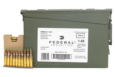 5.56MM NATO 62 GR FMJ 420 RD AMMO CAN
