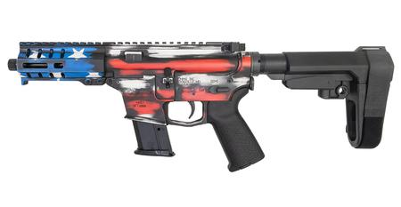 CMMG Banshee 300 Mk57 5.7x28mm Semi-Automatic Pistol with Battle Worn US Flag Cerakote Finish