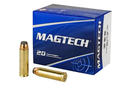 MAGTECH 500 SW 325gr Jacketed Soft Point Flat 20/Box