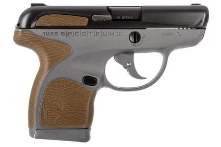 TAURUS SPECTRUM .380 GRAY PISTOL W/BLACK SLIDE AND FDE GRIPS
