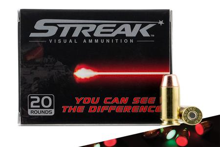 STREAK AMMO 40 S&W 180gr TMJ Red Lighted Rounds 20/Box