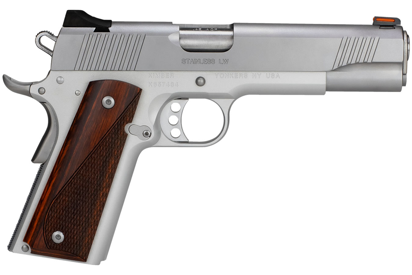 Kimber Stainless Lw 45 Acp Pistol With Stainless Small Parts And Cocobolo Laminate Grips Sportsman S Outdoor Superstore