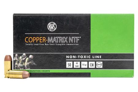 Rws Copper Matrix 40 SW 115 gr Frangible Police Trade-In Ammo 50/Box