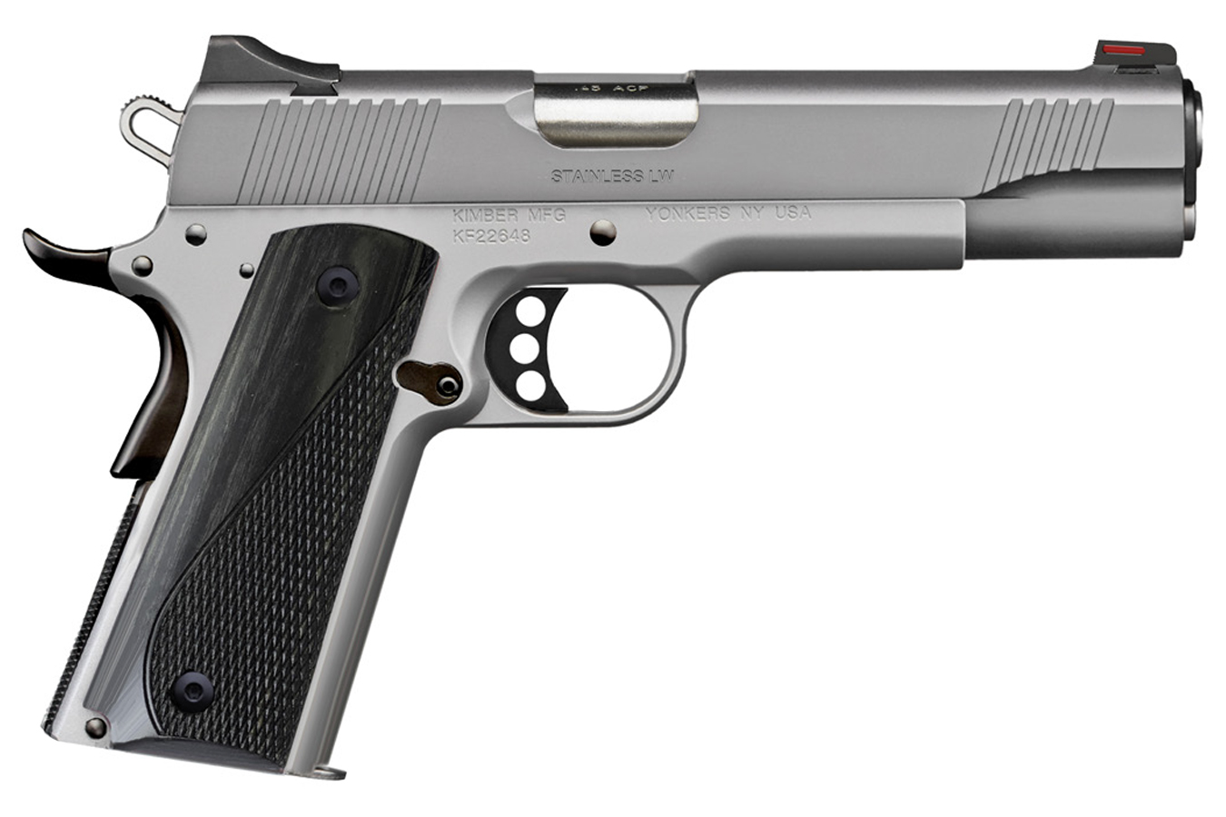 STAINLESS LW  ARCTIC SATIN STAINLESS 45 ACP PISTOL WITH GRAY LAMINATE GRIPS