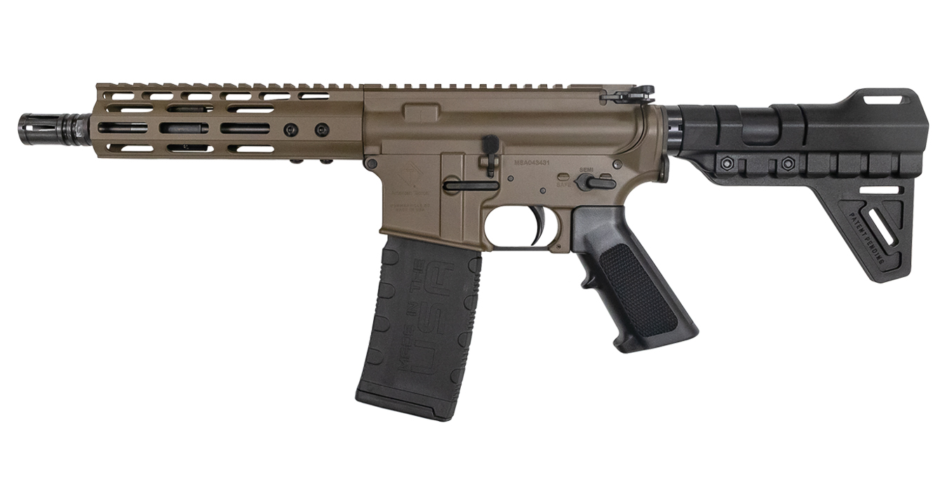 MILSPORT 5.56 PATRIOT BROWN AR-15 PISTOL WITH M-LOK