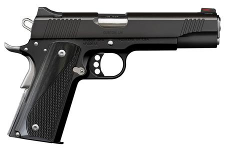KIMBER CUSTOM LW NIGHTSTAR 45 ACP BLACK FINISH GRAY LAM GRIPS
