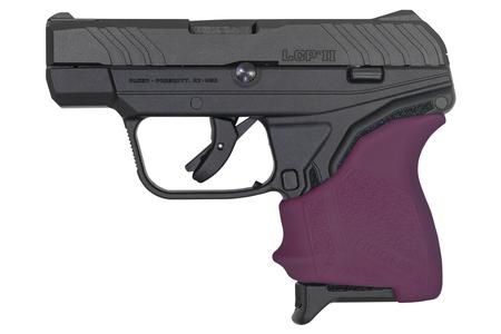 RUGER LCP II 380 ACP WITH VIOLET HOGUE GRIP SLEEVE