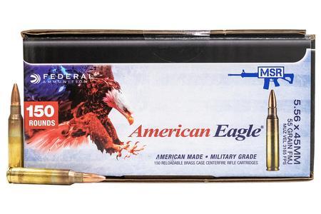 Federal XM193 5.56mm 55 gr FMJ 600 Round Case