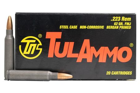 Tula Ammo 223 Rem 62 gr FMJ Steel Case 20/Box