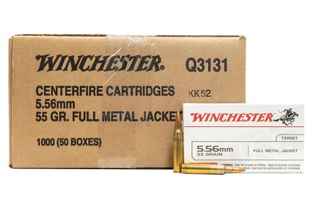 Winchester 5.56mm 55 gr FMJ USA Q3131 1000 Round Case