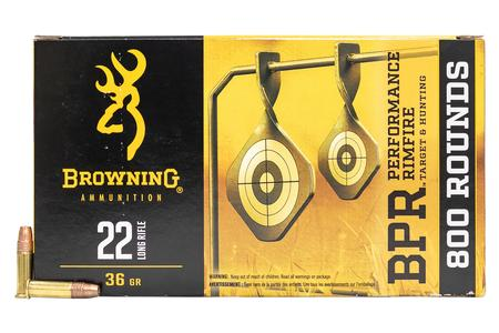 BROWNING AMMUNITION 22LR 36 gr Copper Plated HP 800 Round Value Pack