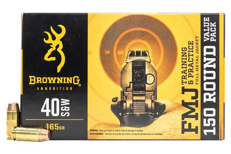Browning 40SW 165 gr FMJ 150 Round Value Pack