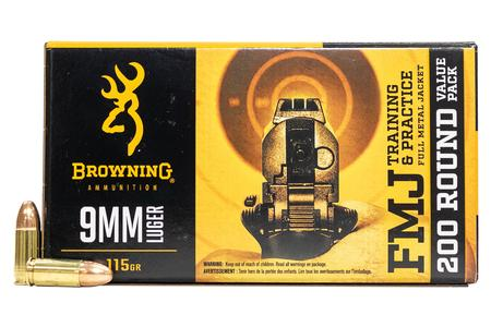 Browning 9mm 115 gr FMJ 200 Round Value Pack
