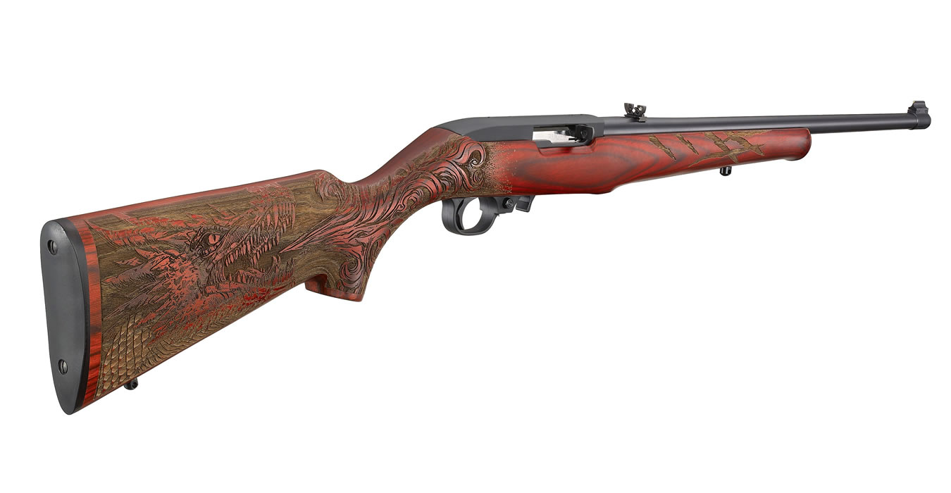Ruger 10 22 22lr Rimfire Rifle With Red Laminate Dragon Stock Sportsman S Outdoor Superstore