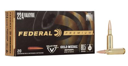 FEDERAL AMMUNITION 224 Valkyrie 80.5 gr Gold Medal Berger Hybrid 20/Box