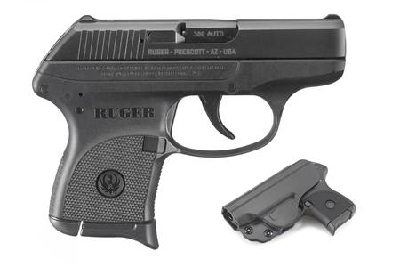 RUGER LCP 380 ACP WITH IWB HOLSTER