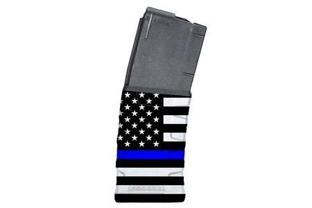 MISSION FIRST TACTICAL 223/5.56mm 30-Round AR-15 Magazine with Blue Line American Flag Finish