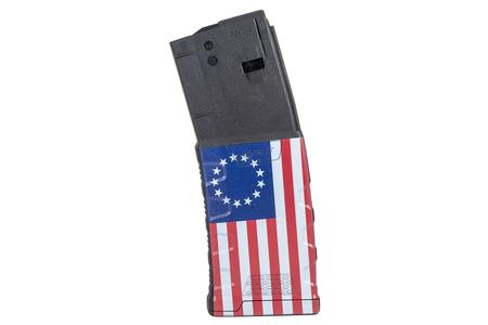MISSION FIRST TACTICAL 223/5.56mm 30-Round AR-15 Magazine with Betsy Ross Flag Finish