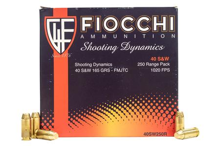 FIOCCHI 40SW 165 gr FMJTC Police Trade Ammo 250 Round Bulk Pack