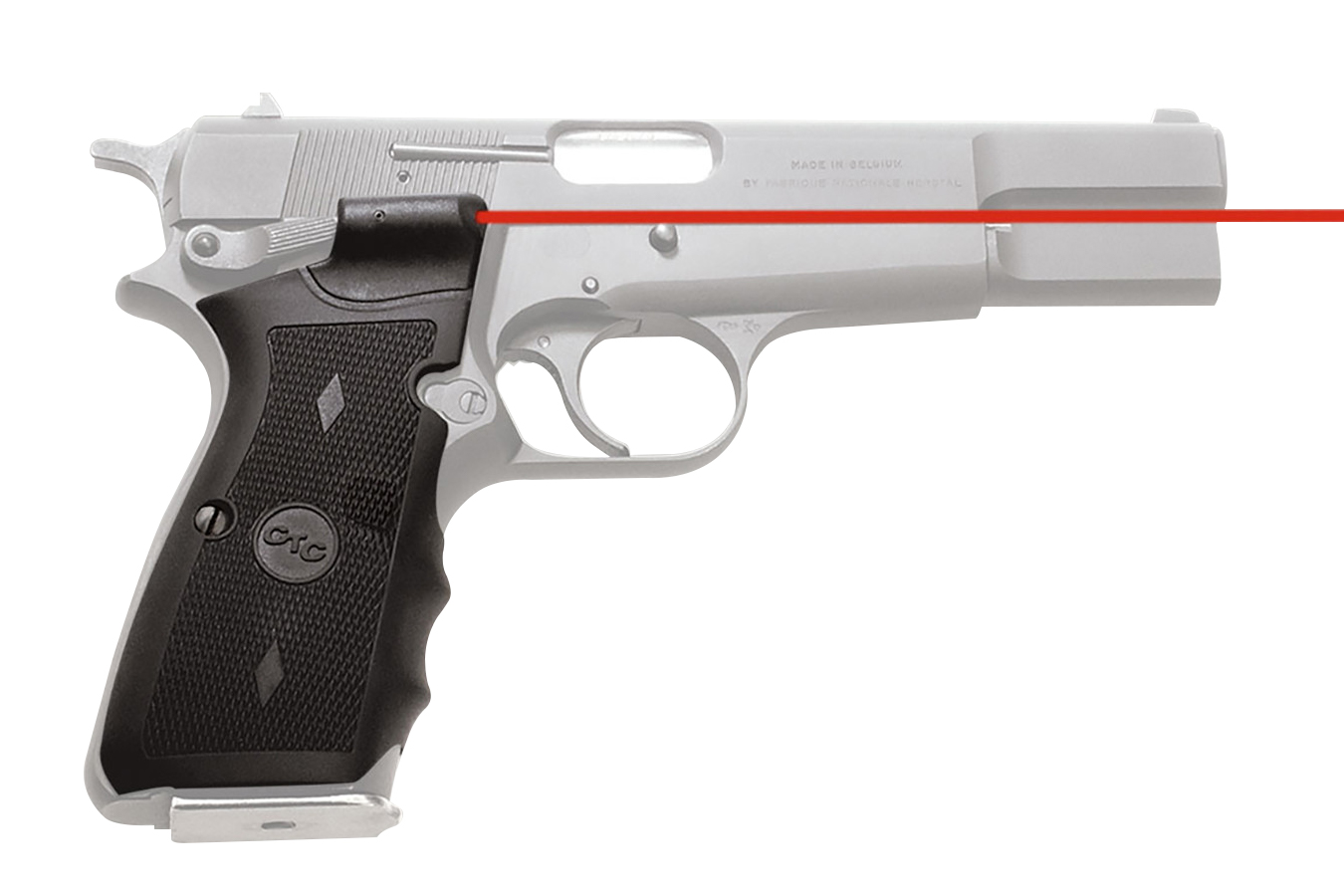 DUAL SIDE ACTIVATION LASERGRIPS FOR BROWNING HI-POWER