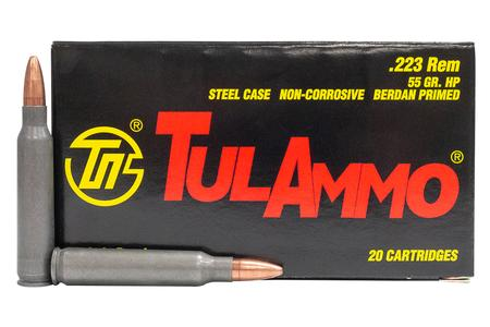 TULA AMMO 223 Rem 55gr HP Steel Case 20/Box