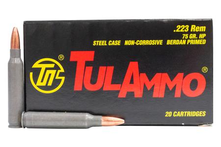 Tula Ammo 223 Rem 75gr Hollow Point Steel Case 20/Box