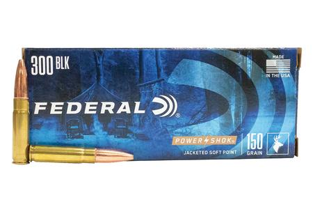 Federal 300 Blackout 150gr Jacketed Soft Point Power-Shok 20/Box