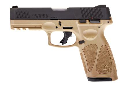 TAURUS G3 9MM STRIKER-FIRED PISTOL WITH TAN FRAME