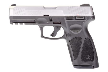 TAURUS G3 9MM 4 INCH BBL SINGLE ACTION PISTOL WITH GRAY FRAME AND MATTE STAINLESS SLIDE