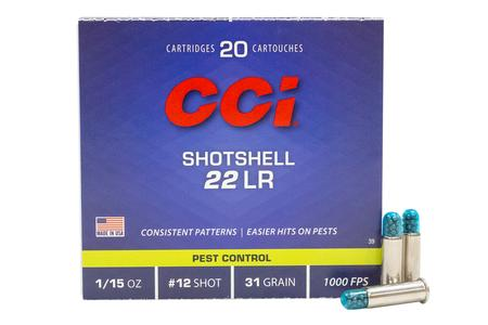 CCI 22 LR Shotshell 31 gr #12 Shot 20/Box