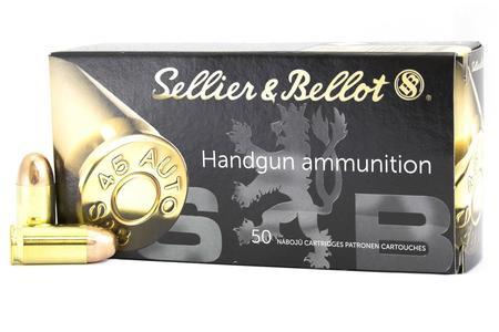Sellier And Bellot 45 Auto 230 gr FMJ Handgun 50/Box