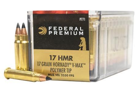 Federal 17 HMR 17 gr Hornady V-Max Vital-Shok 50/Box
