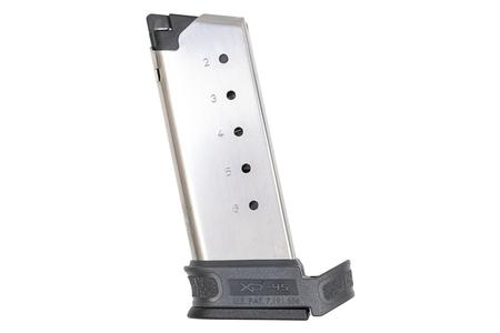 SPRINGFIELD XDS Mod.2 45 ACP 6-Round Extended Factory Magazine with Gray Grip Sleeve