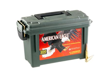Federal 6.5 Creedmoor 120 gr OTM American Eagle 100 Rounds in Ammo Can