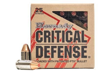 Hornady 380 Auto 90 gr FTX Critical Defense 25/Box