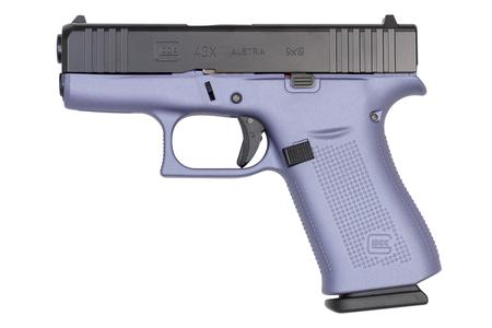 GLOCK 43X 9MM PURPLE FRAME BLACK SLIDE