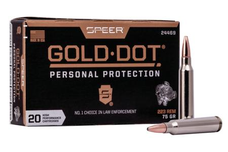 SPEER AMMUNITION 223 Rem 75 gr SP Gold Dot 20/Box