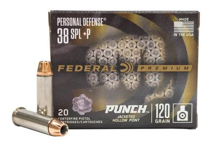 Federal 38 Special +P 120 gr JHP Personal Defense Punch 20/Box